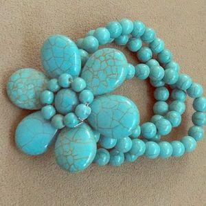 Jewelry - TURQUOISE flower bracelet